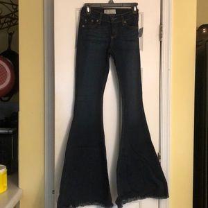 Free People Jeans - Dark denim flare pants